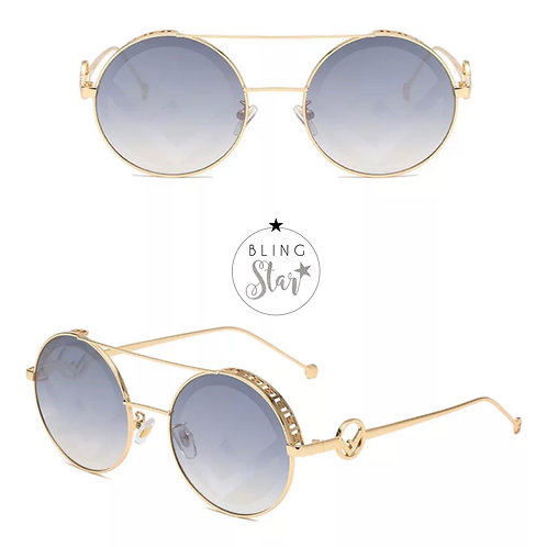 Florida Round Sunglasses Grey