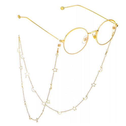 Gold Moon & Star Sunglasses Chain