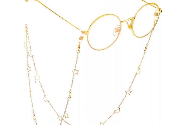 Gold Moon & Star Sunglasses Chain