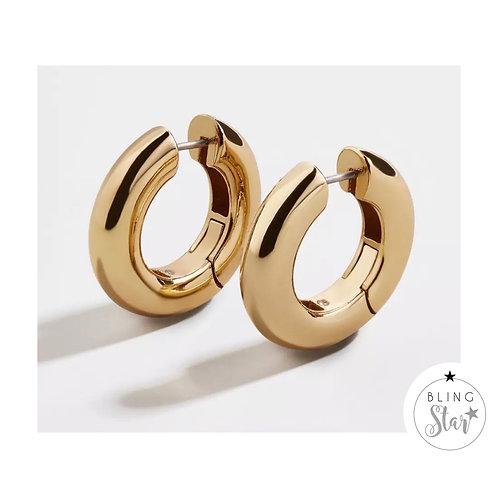 Monaco Chunky Hoop Earrings Gold