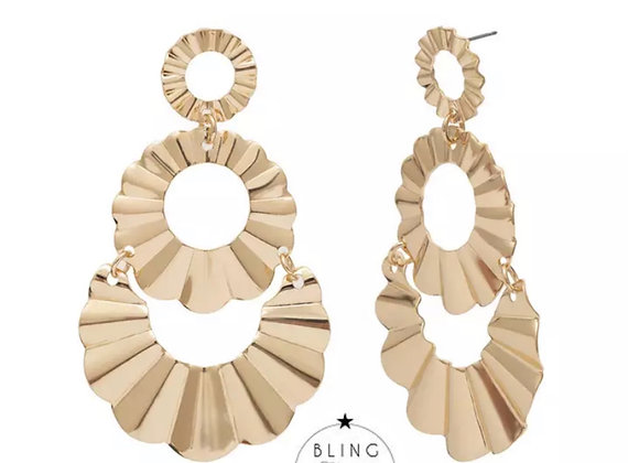 Capri Earrings Gold