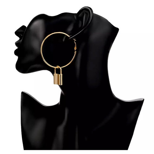 Under Lock & Key Hoops Gold