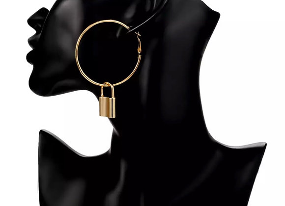Under Lock & Key Hoops Gold