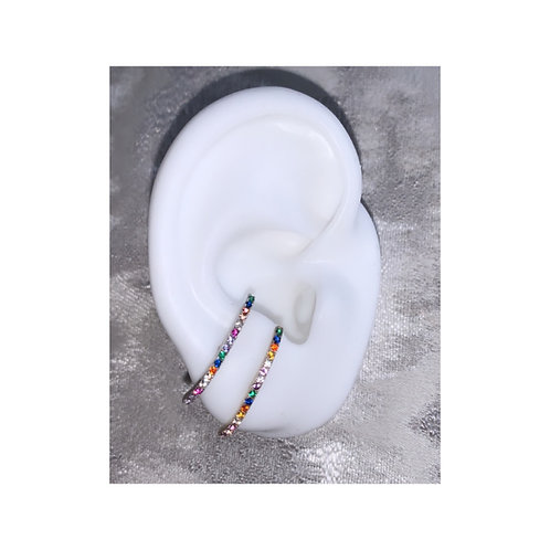 Over The Rainbow Ear Cuff Silver