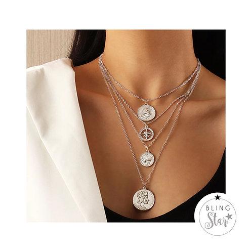 Roman Coin Layer Necklace