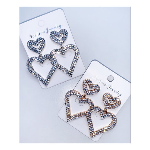Beauty Queen Heart Earrings