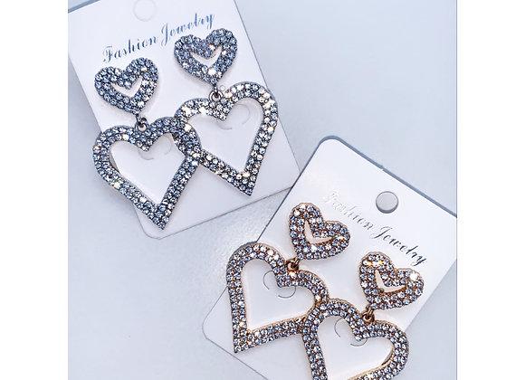 Beauty Queen Heart Earrings