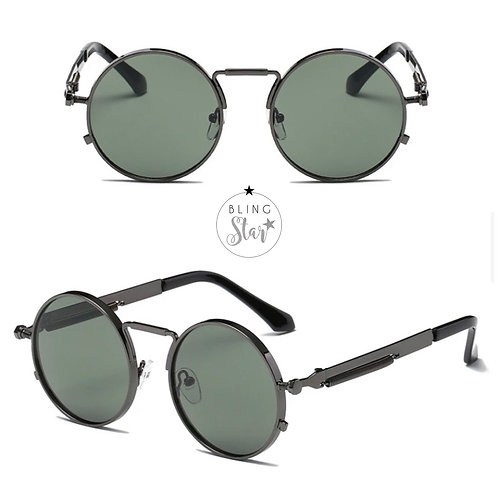 Capri Round Shades Grey/Green