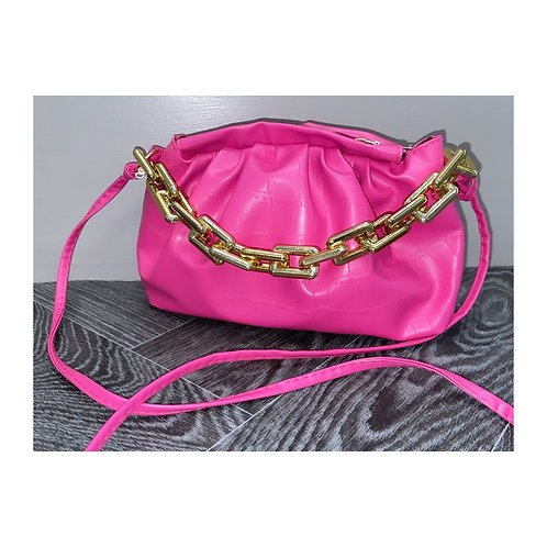 Snake Chain Pouch Pink