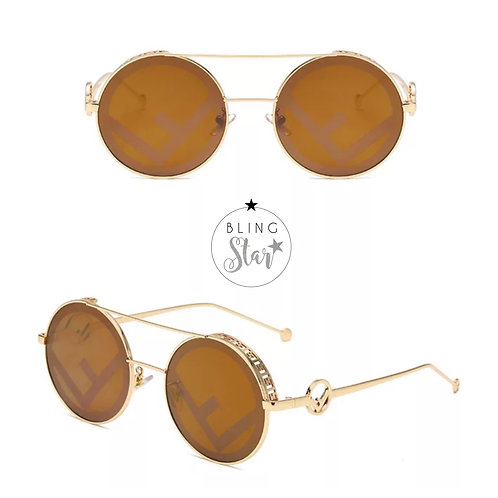 Florida Round Sunglasses Gold