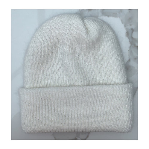 Cashmere & Wool Beanie Winter White
