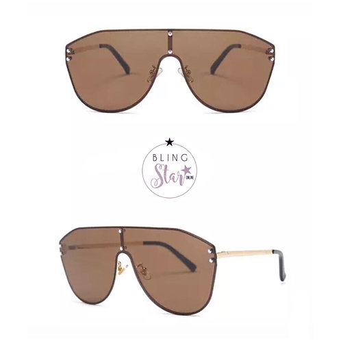 Fiji Oversized Aviators Coffee