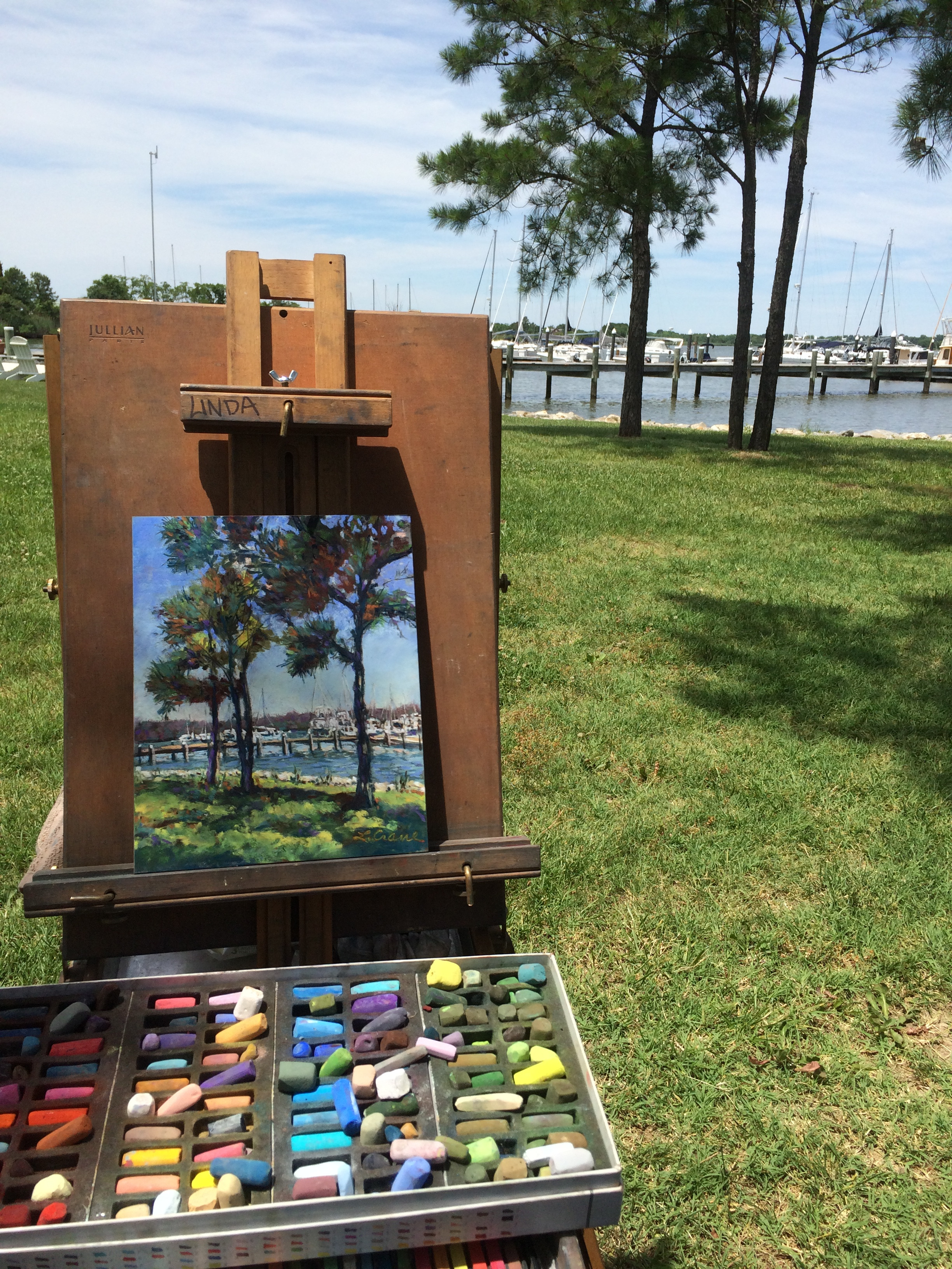 painting on location, Rock Hall MD