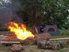 Camping in Sanborn
