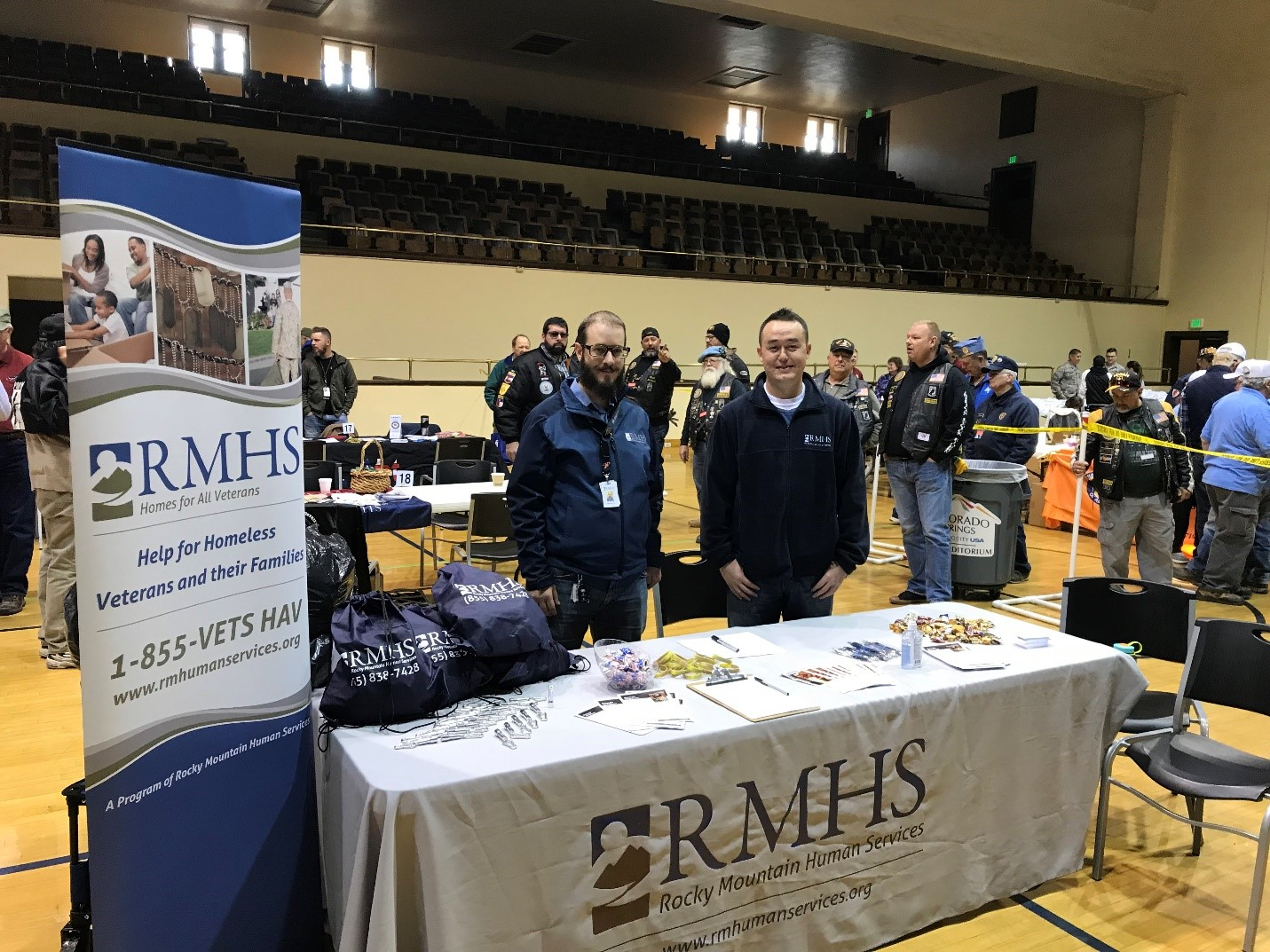 RMHS Participates in Veteran Stand Downs to Help Vets