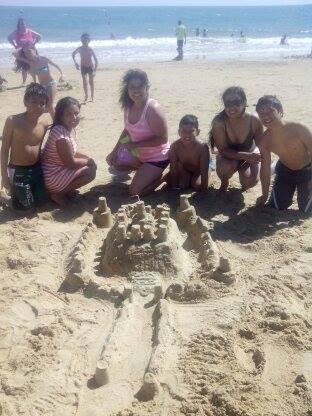 Obras de arte en la playa