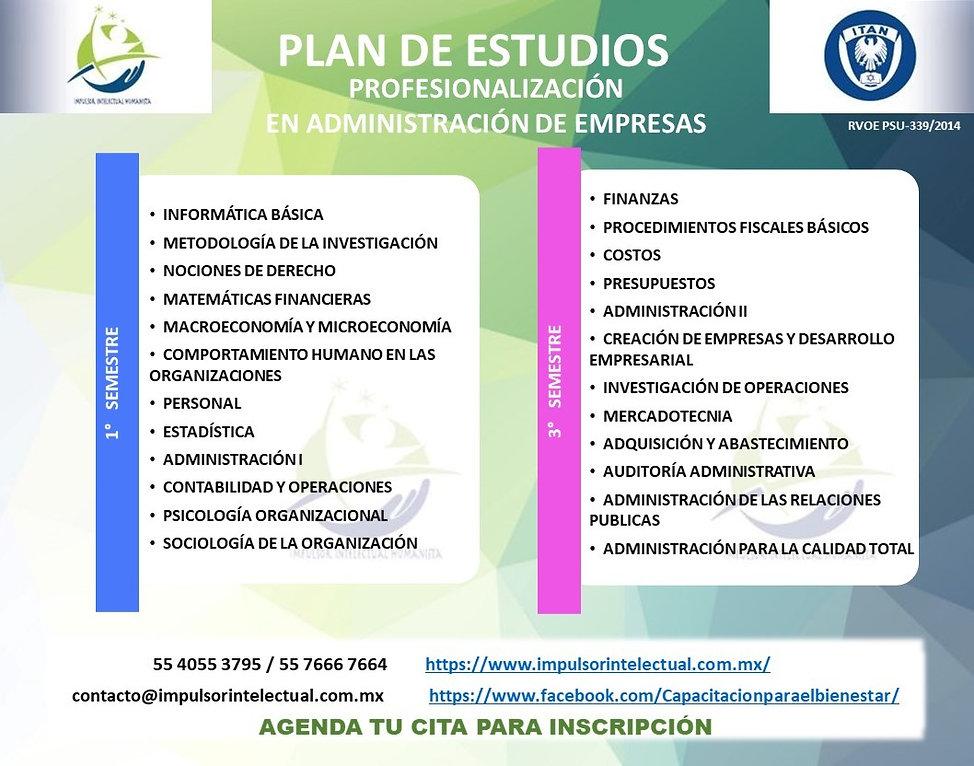 Plan de Estudios Profesionalización en A