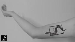 TATTOO ARM - A SNAKE