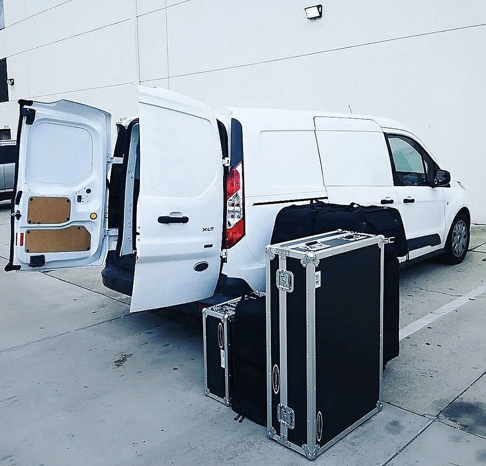 Cargo Van with Audio Equipment for Delivery and Set-Up
