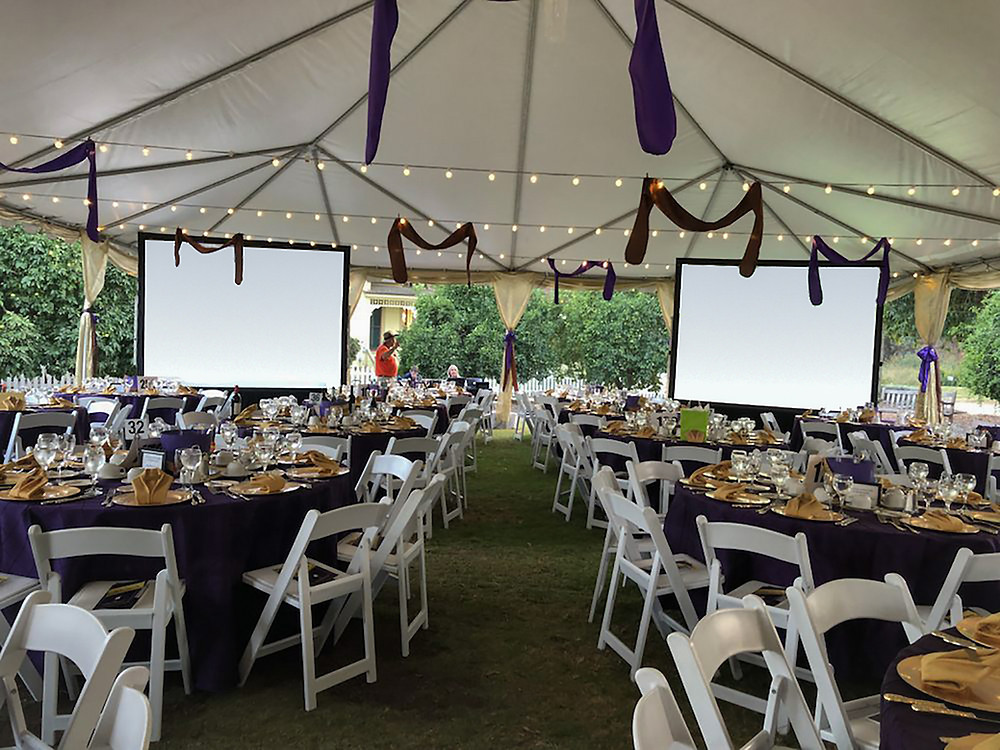 Private Party Event with two Projection Systems