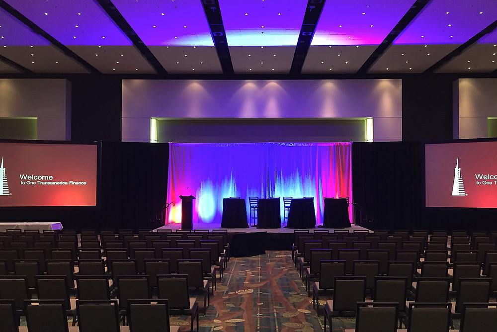 Audiovisual AV Setup for International Business Conference Event