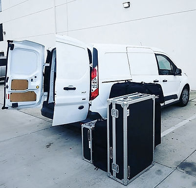 White Equipment Rental Delivery Van