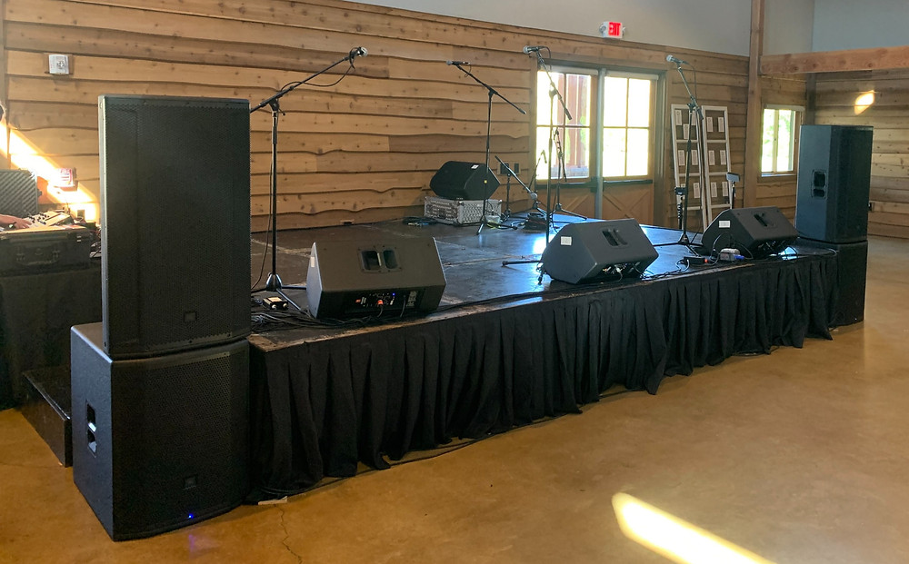 Sound Equipment Inside the Barn at Sycamore Farms