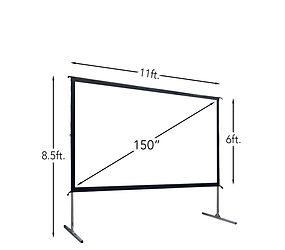 150 Inch Fast-Fold Projection Screen
