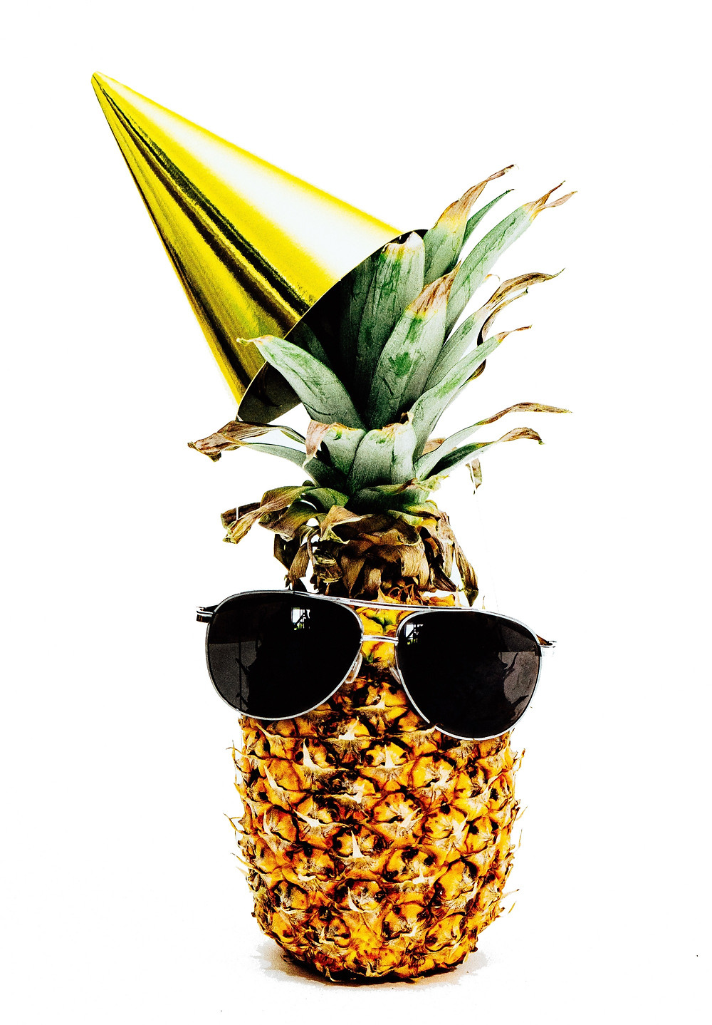 Party Pineapple Wearing Sunglasses