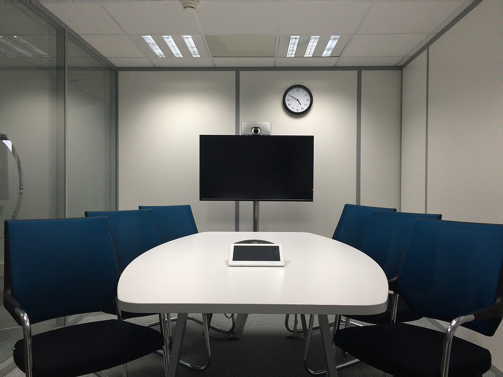 Conference Room with TV Display in Front