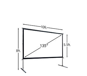 135 Inch Fast-Fold Projection Screen