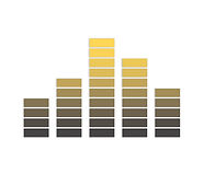 Grey and yellow sound level icon