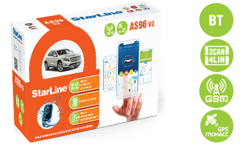 StarLine AS96v2 BT 2CAN+4LIN GSM GPS