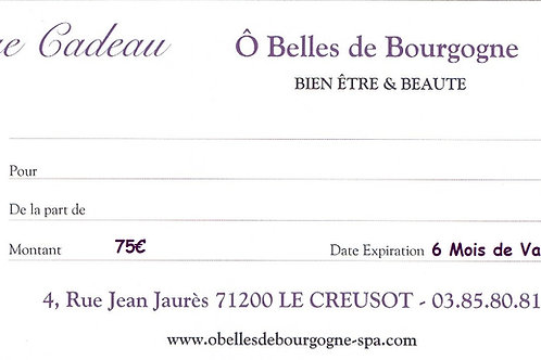 Chèque Cadeau Plaisir 75€