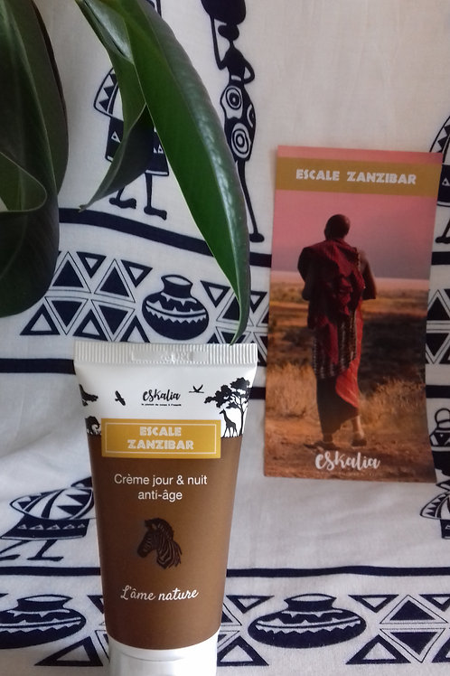 Eskalia - Crème Visage Jour & Nuit Anti-Age Escale Zanzibar 50ml
