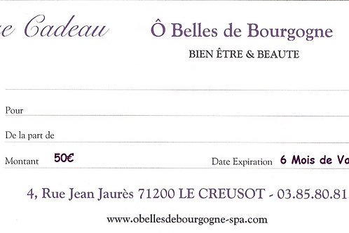 Chèque Cadeau Plaisir 50€