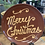 Thumbnail: Redware Merry Christmas Plate