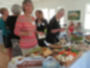 2015 reception Barb at the buffet croppe