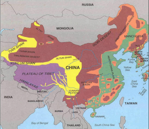 Map of China's regions