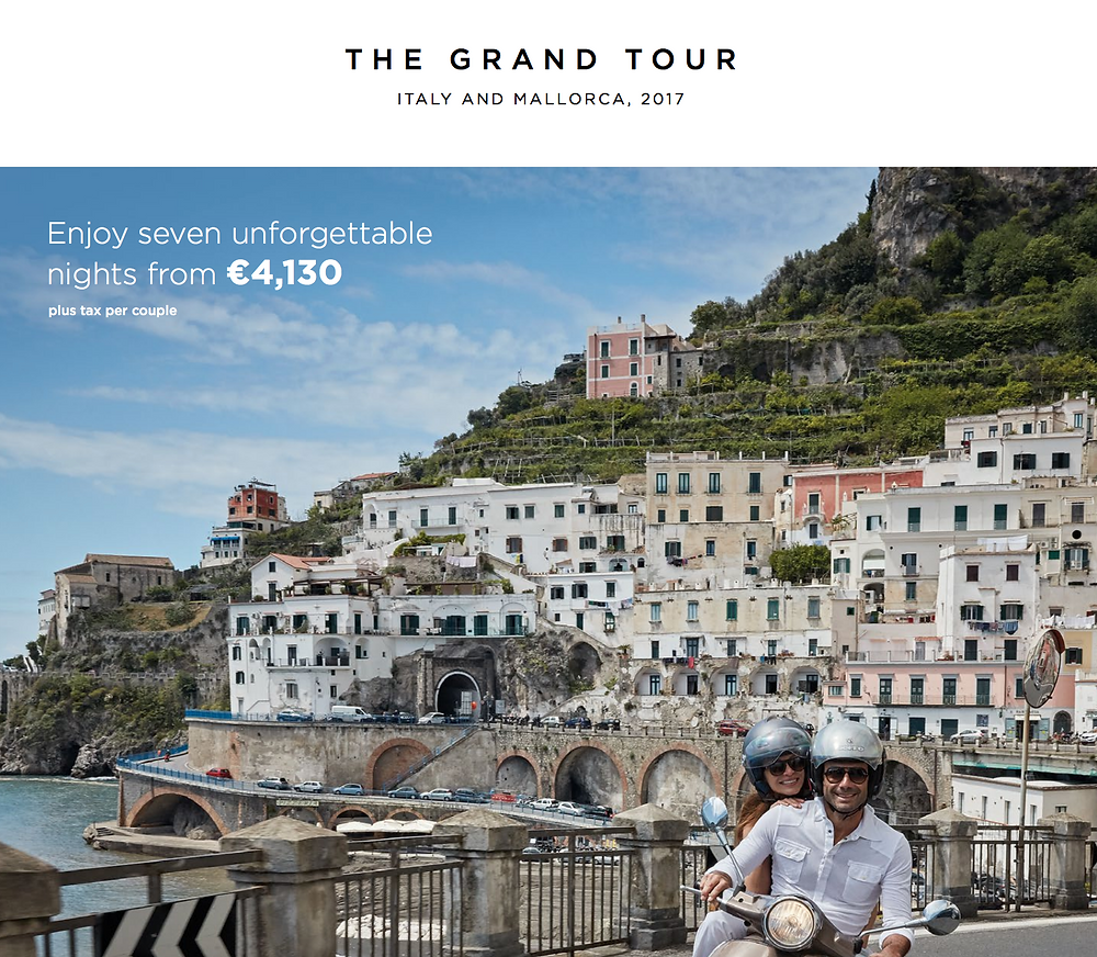 Tour of Italy for 4,000 Euro