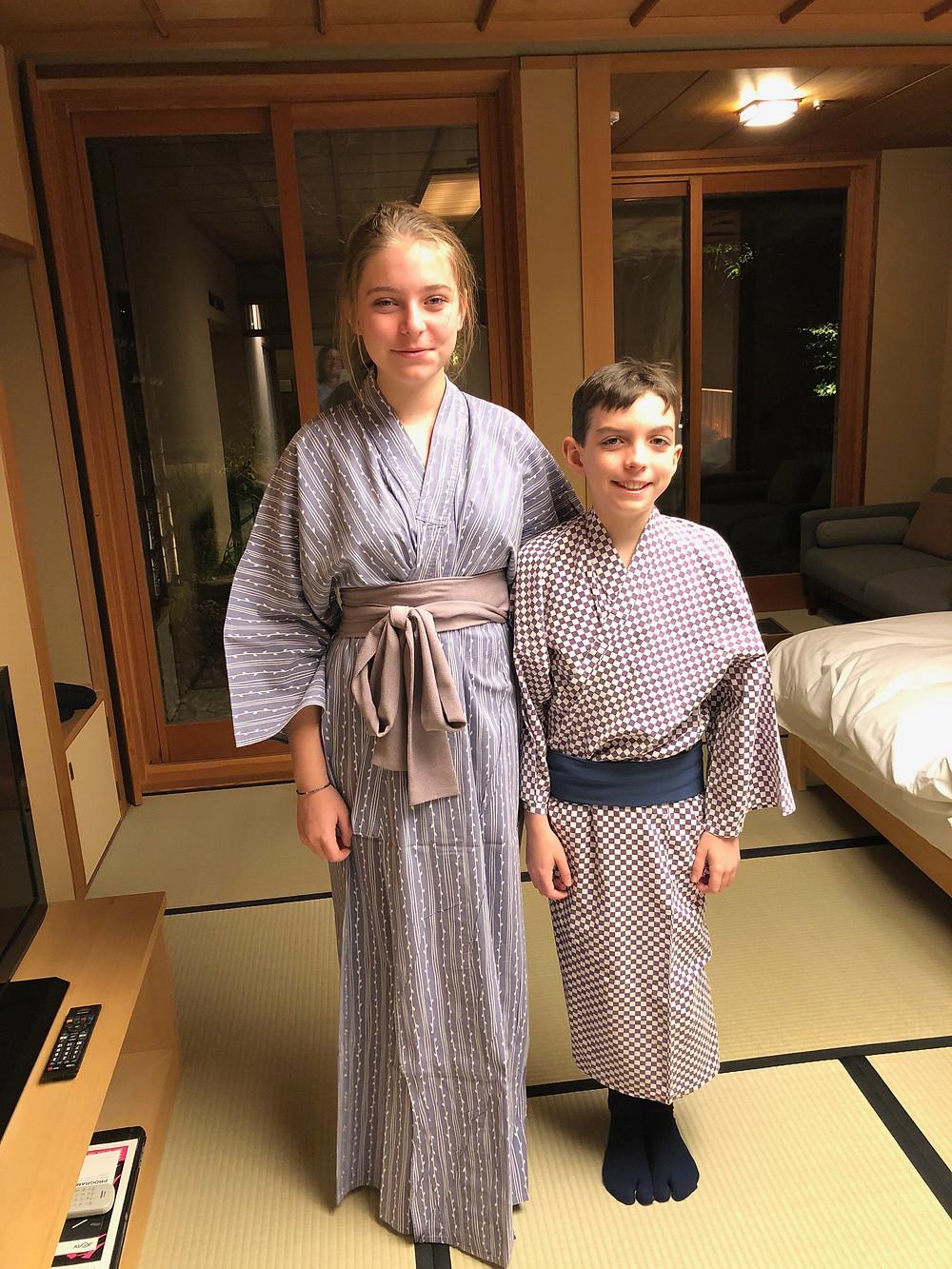 Kids in Kimonos at Gora Kadan