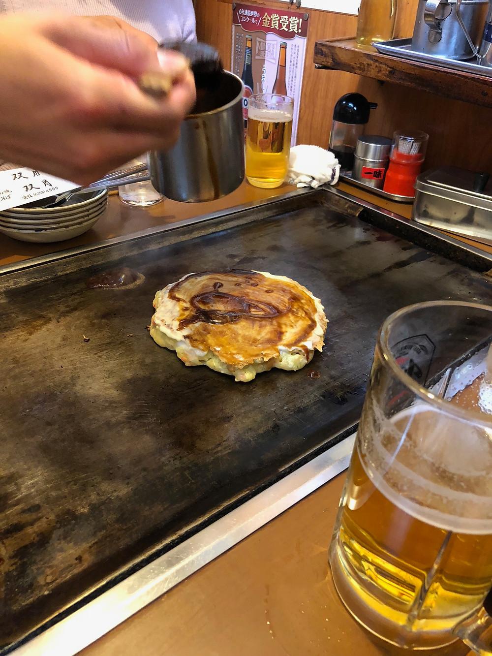 Okonomiyaki pancake osaka
