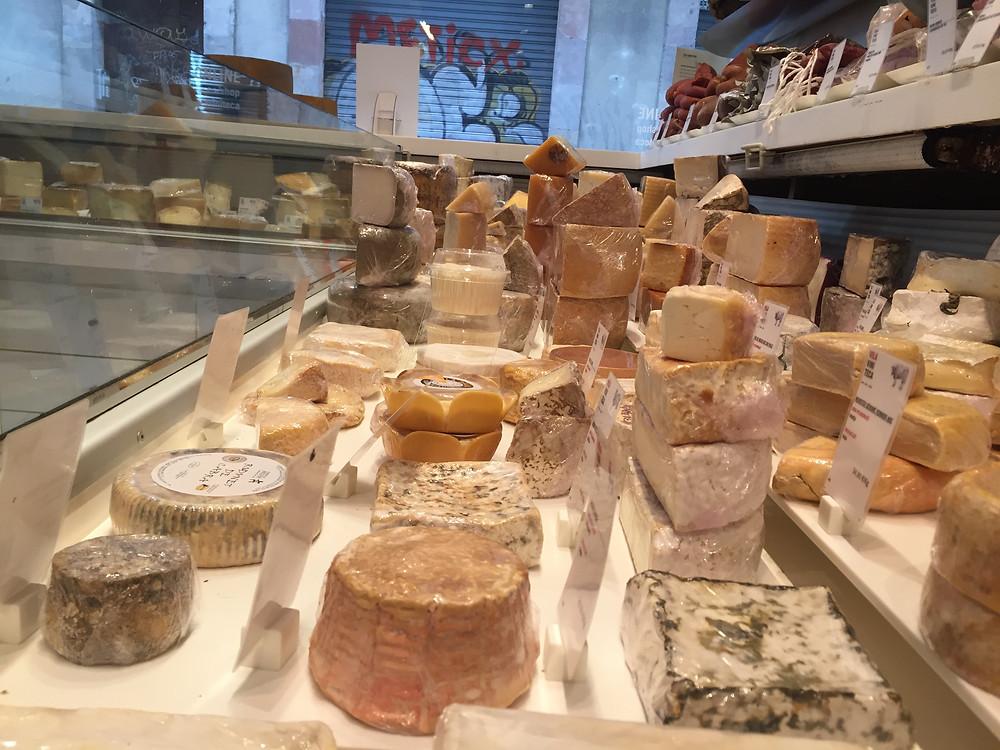 Cheese selection, Vila Viniteca, El Born, Barcelona