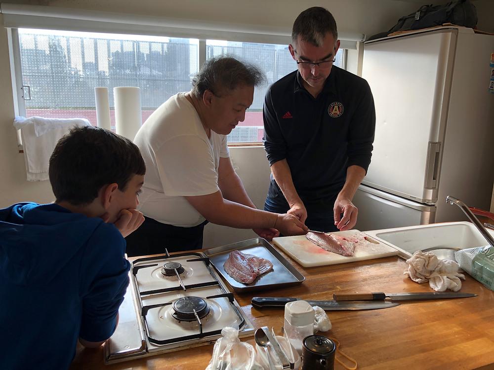 Sushi-making class in Tokyo