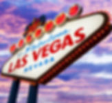 Welcome To Las Vegas neon sign on sunset