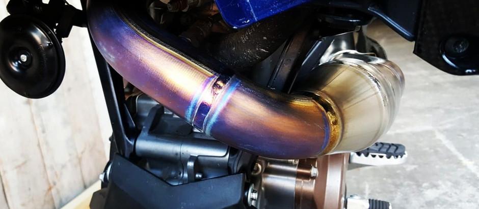 Tekmo Titanium Header Pipe for Husqvarna 701 Enduro & SMC