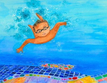 Bo diving for coins (2).jpg
