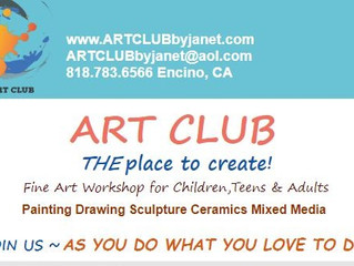 Art Club by Janet Offers Art Workshops For Children & Teens - Encino, CA & Virtual