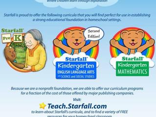 Starfall Homeschool Curriculum and Website for Pre-K - 3rd Grade - Online