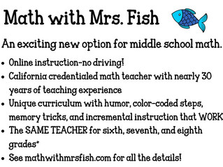 Math with Mrs. Fish - Middle School Math - Virtual